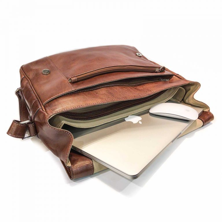 Morrales de Cuero Hombre Porta Notebook