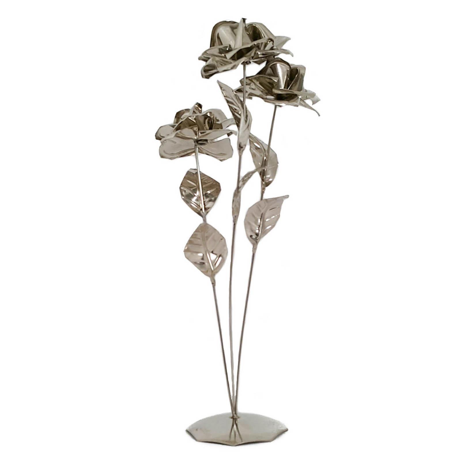 Flor con base triple