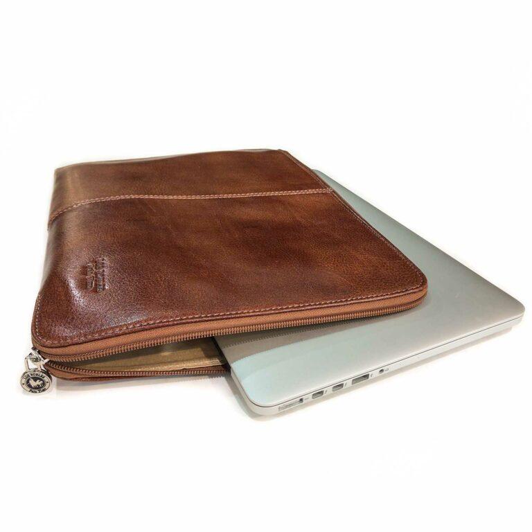 Carpeta de Cuero Oficio Porta Notebook