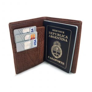 Porta Pasaporte Cuero Organizador Personal