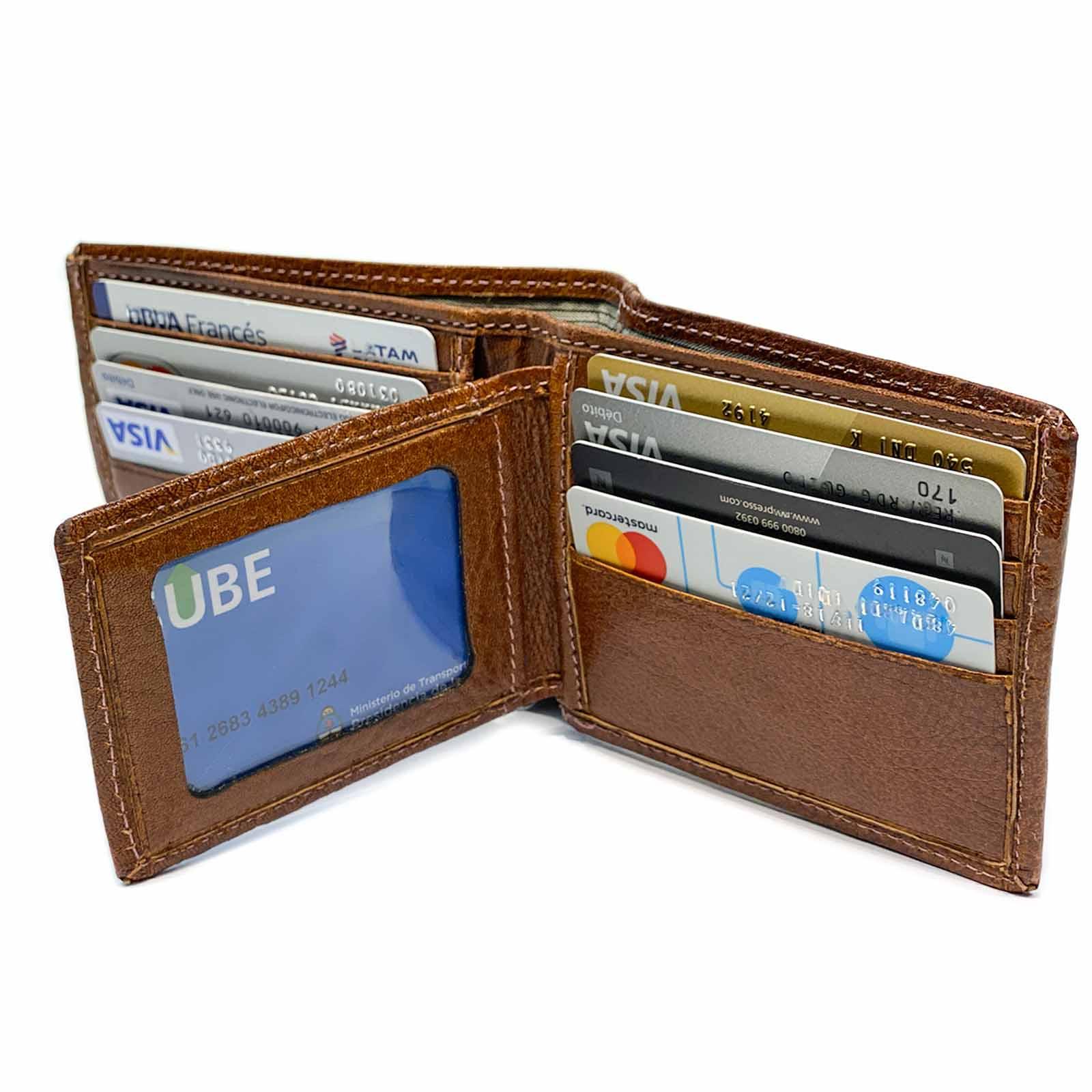 Billeteras de Cuero Hombre Pesos Euros Dolares